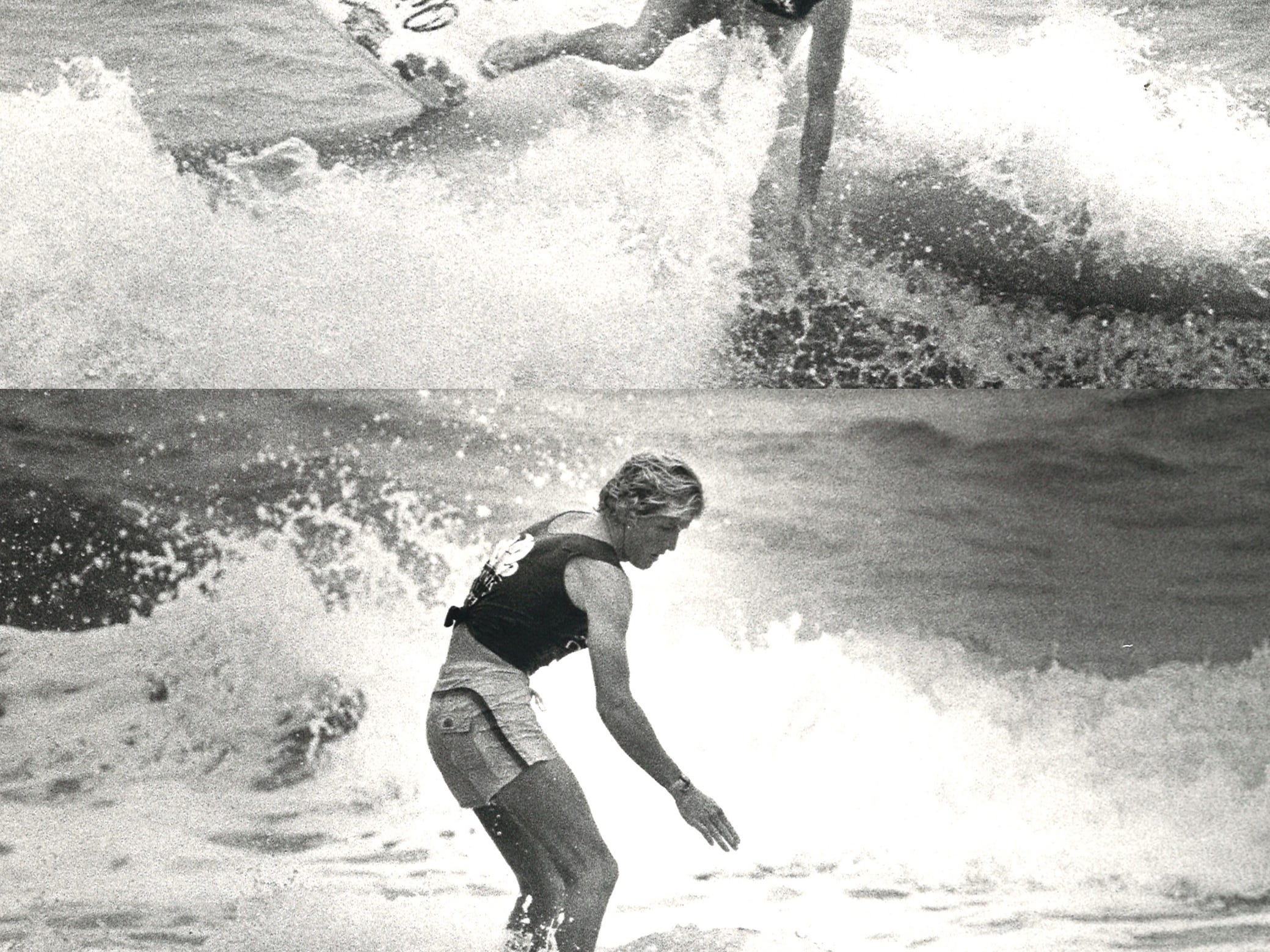 Matt Kechele of Cocoa Beach, Florida won the first Sundek Classic Surfing Tournament held at J.P. Luby Surf Park in Corpus Christi on April 1, 1984.