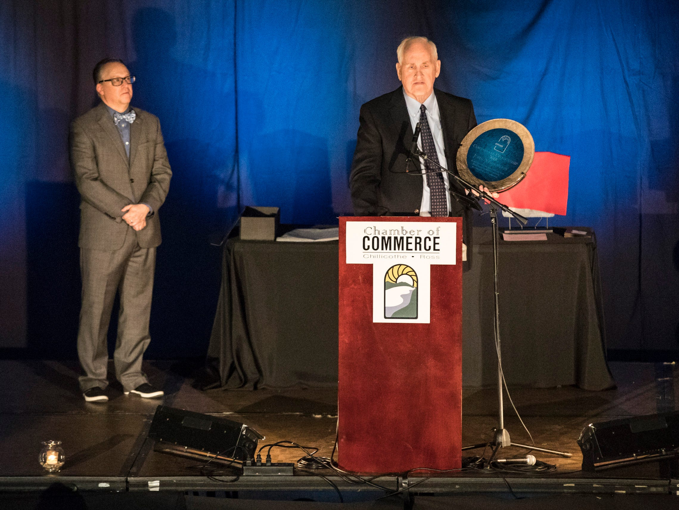 The Corporate Citizenship Award was presented to Janney Montgomery Scott at the 2019 Chillicothe and Ross County Chamber of Commerce annual meeting on March 12, 2019.