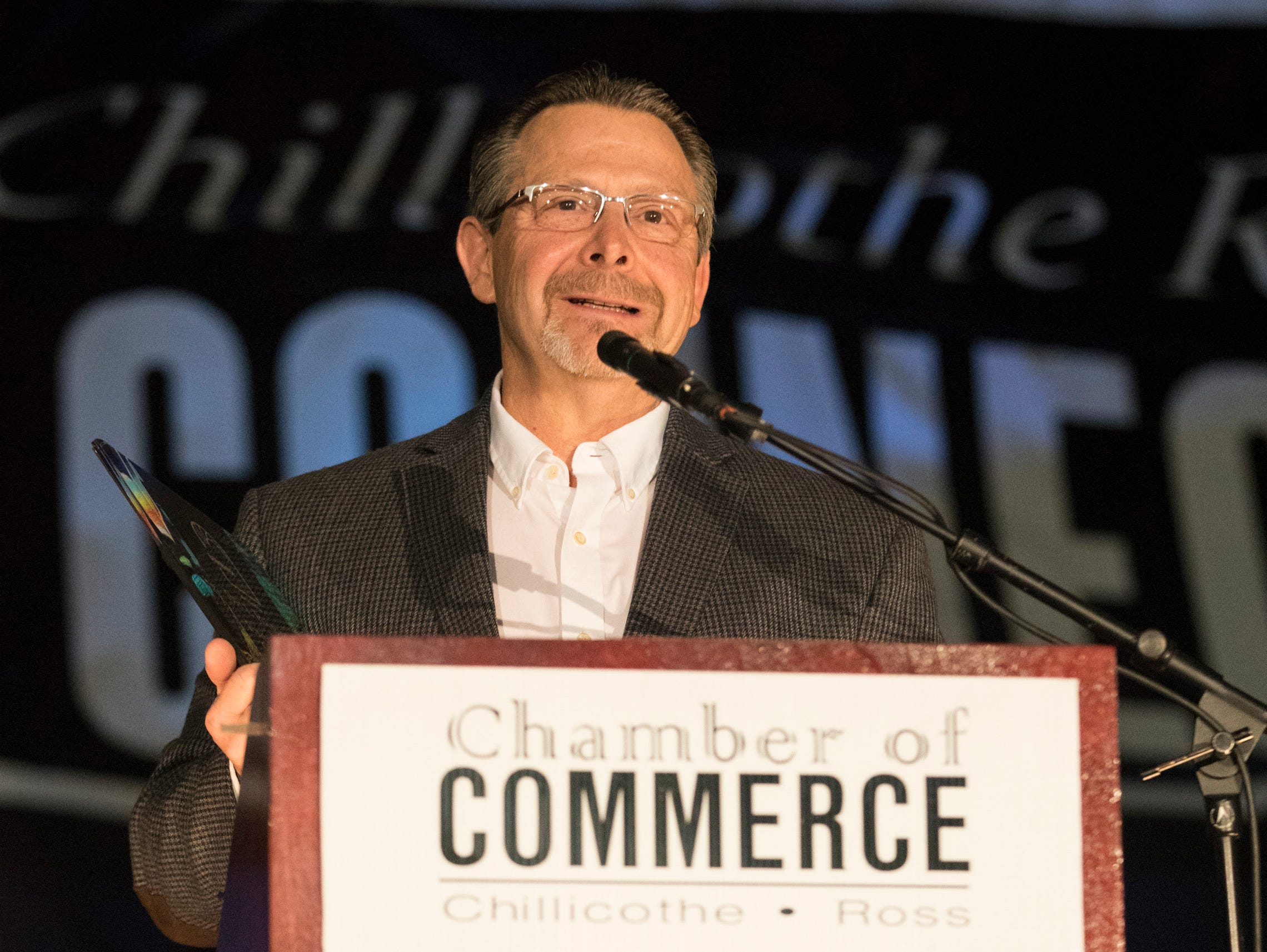 The Entrepreneur of the Year Award went to Bill Barker of Casa Del Taco at the 2019 Chillicothe and Ross County Chamber of Commerce annual meeting on March 12, 2019.