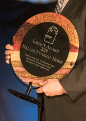 The Legacy Award was presented to Haller Funeral Home at the 2019 Chillicothe and Ross County Chamber of Commerce annual meeting on March 12, 2019.