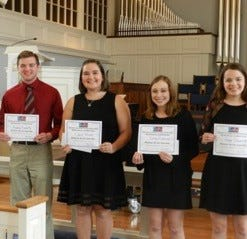 CAPA 2018 vocal competition Rising Award winners.