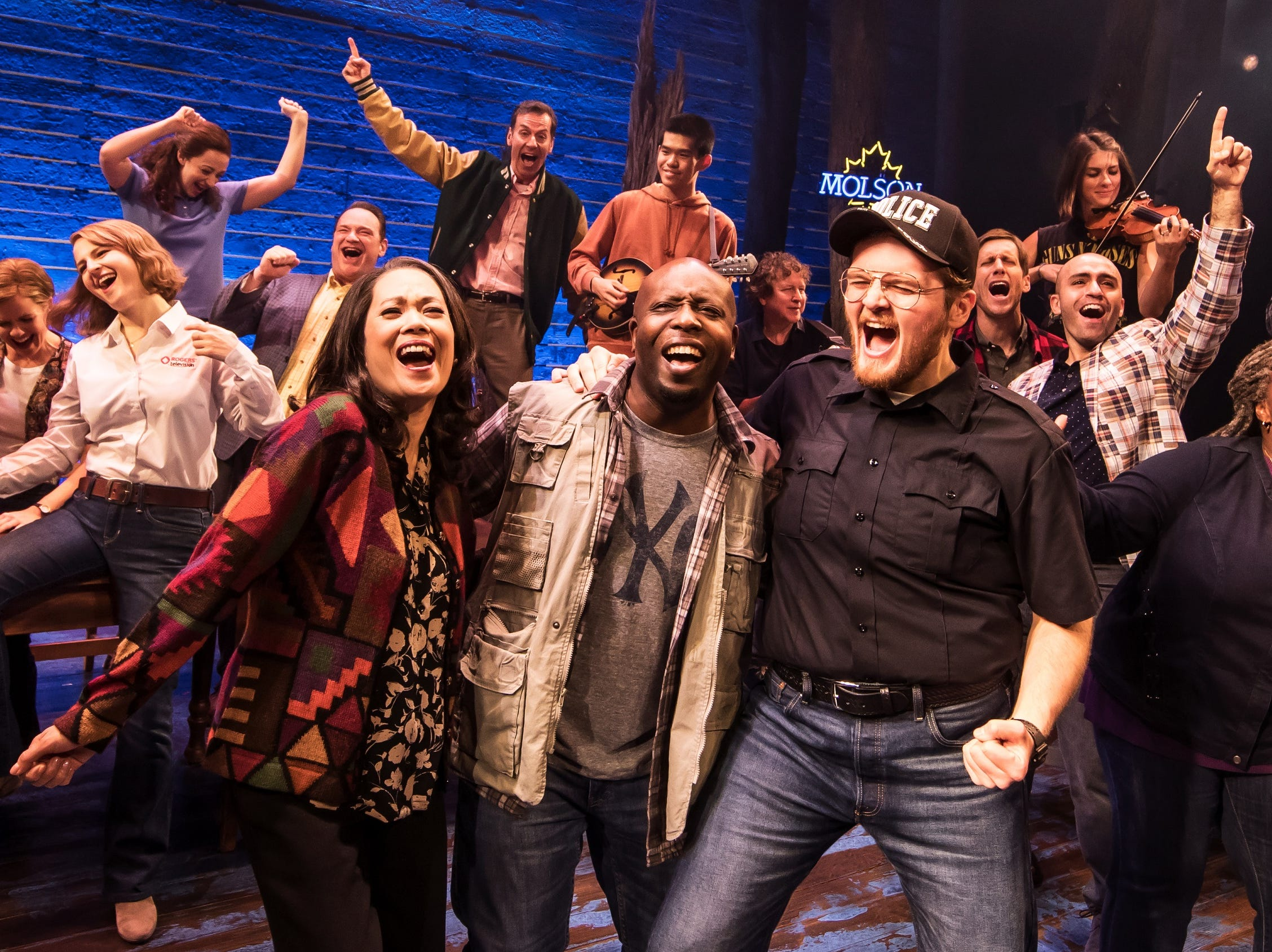 """Cast members from the first North American Tour of """"Come From Away."""" The show opens the 2019-2020 Broadway in Cincinnati season at the Aronoff Center, running Sept. 17-29."""