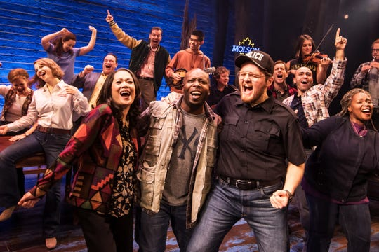 "Cast members from the first North American Tour of ""Come From Away."" The show opens the 2019-2020 Broadway in Cincinnati season at the Aronoff Center, running Sept. 17-29."