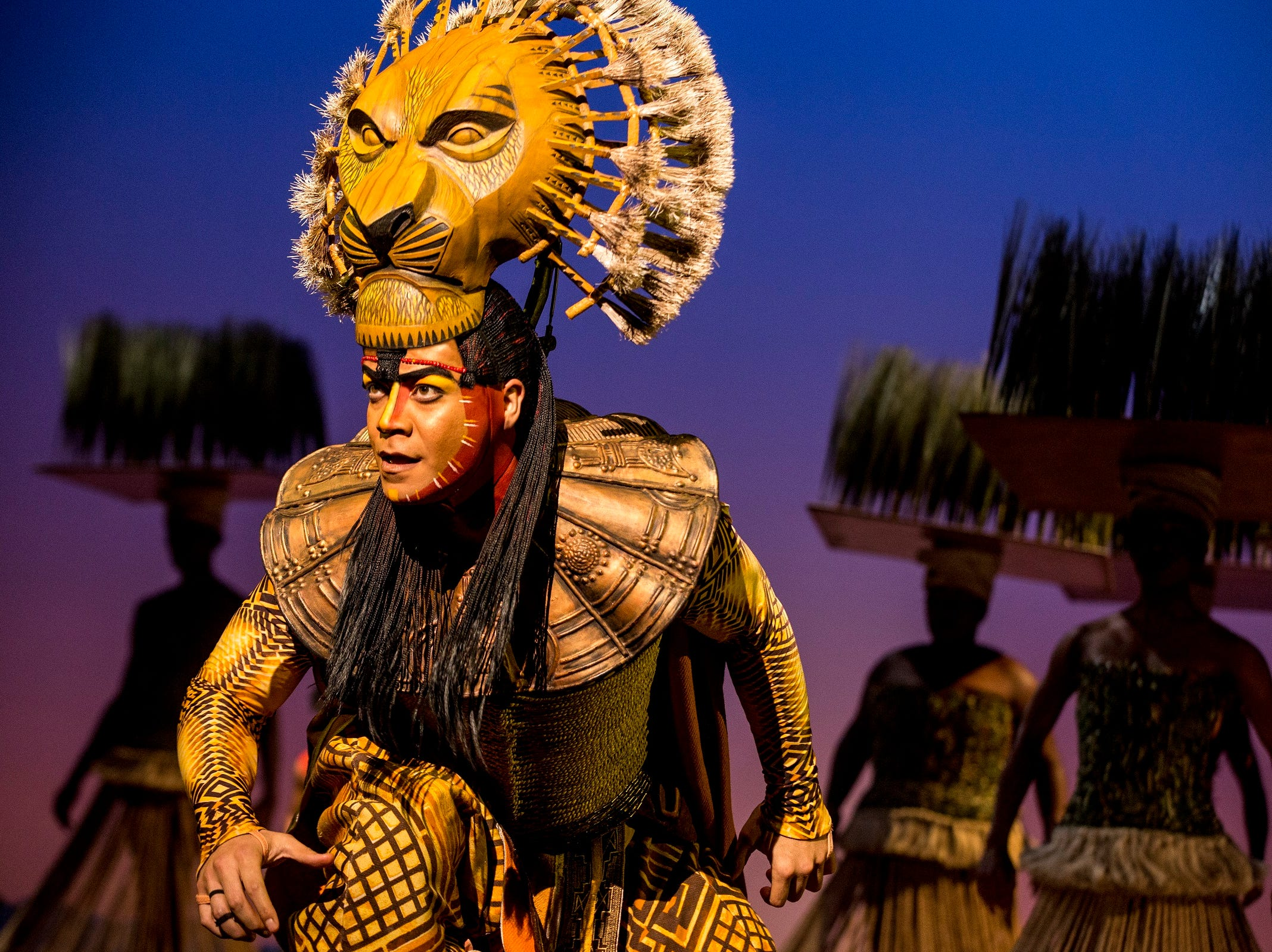 """It's been more than 20 years since the musical version of """"The Lion King """"opened on Broadway. Yet it seems every bit as fresh today as it was then. The show will return to Cincinnati Jan. 8–Feb. 2, 2020, presented by Broadway in Cincinnati. Seen here is Gerald Ramsey, as """"Mufasa."""""""