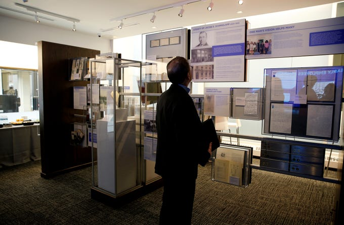 Fifth Third Bank opened a museum on Wednesday March 13, 2019, at headquarters that chronicles the people, places, and events that built the bank.