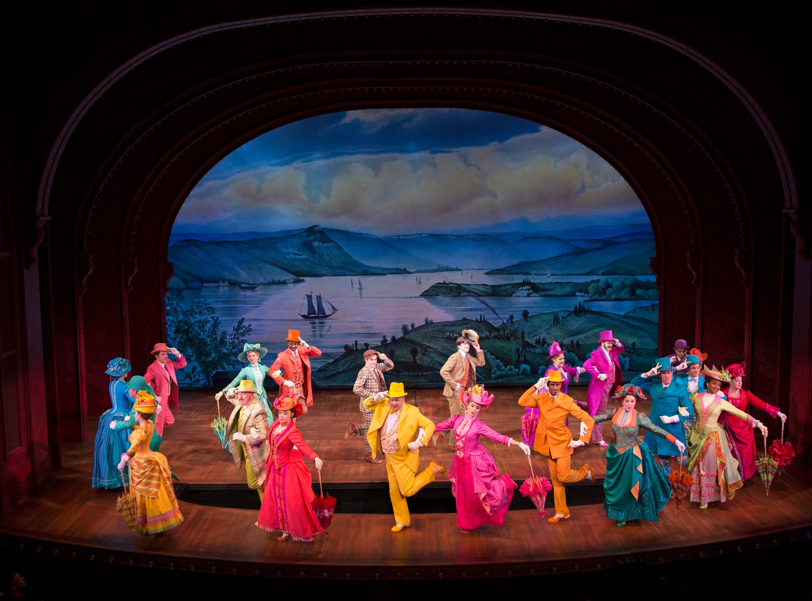 """A scene from Jerry Zaks' colorful revival of """"Hello, Dolly!"""" It will be at the Aronoff Center Dec. 3-15 as part of the 2019-2020 Broadway in Cincinnati series."""