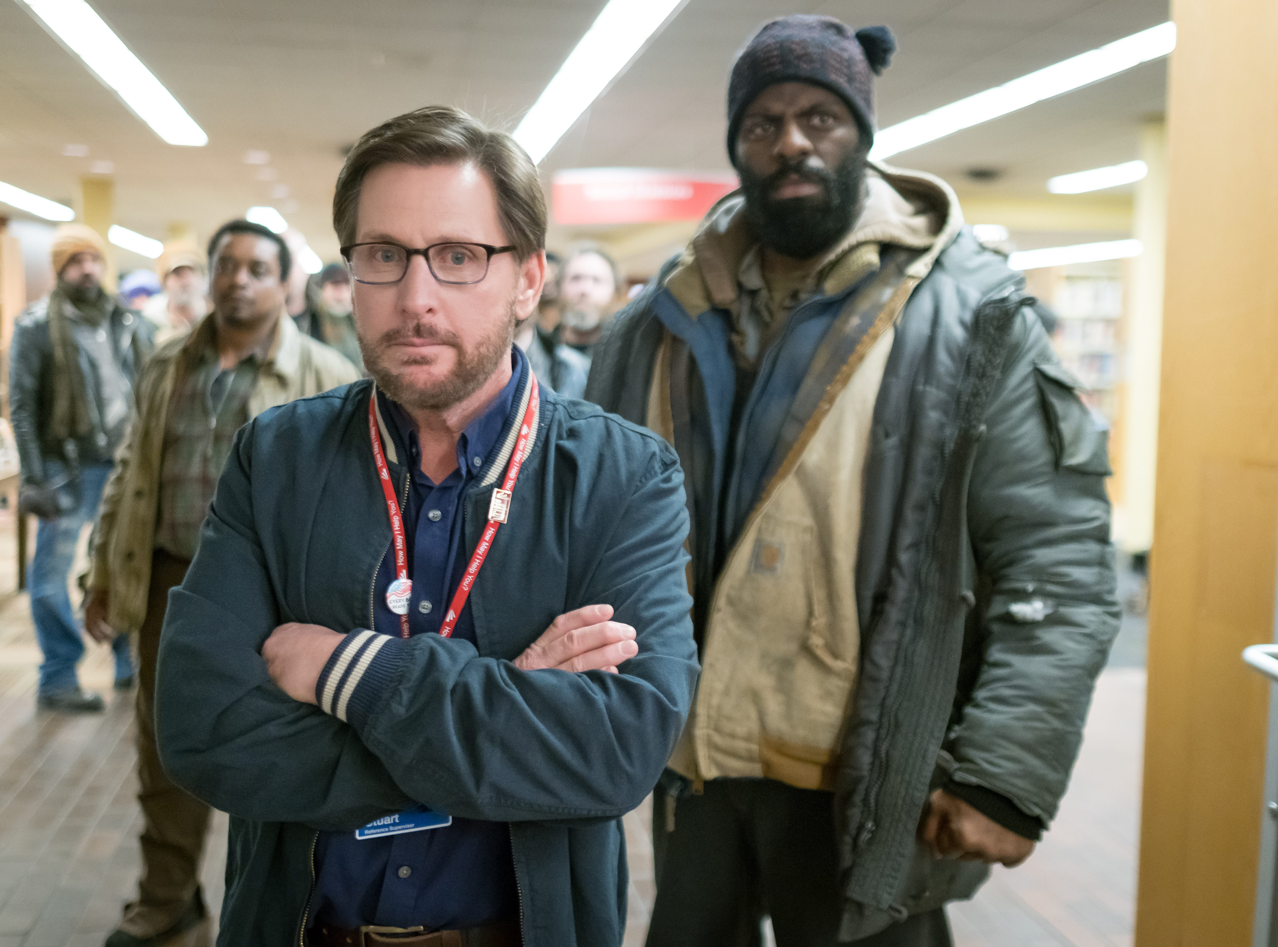 "Emilio Estevez as Stuart Goodson in Universal Pictures Content Group's drama ""The Public."""