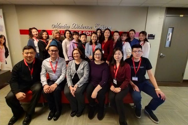 On Wednesday, Feb. 20, a delegation of 15 preschool and kindergarten teachers and administrators from Beijing, China, arrived on campus for a special, week-long training symposium.