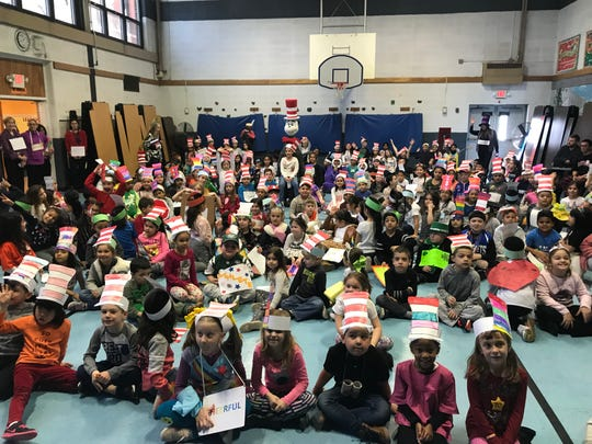 Parker Elementary School was selected to receive a visit from the Cat through the New Jersey Education Association.