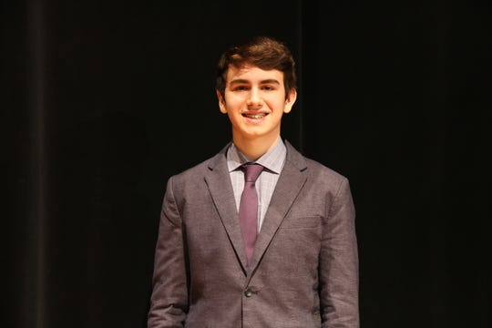 Noah Bergam of Short Hills, a sophomore at The Pingry School, won the School's 2019 Dr. Robert H. LeBow class of 58 Memorial Oratorical Competition on Feb. 22.