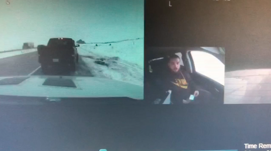 Iowa State Patrol dash camera video shows troopers talking to Kyle Long on March 8, 2019, along Interstate 80 in Stuart, Iowa.