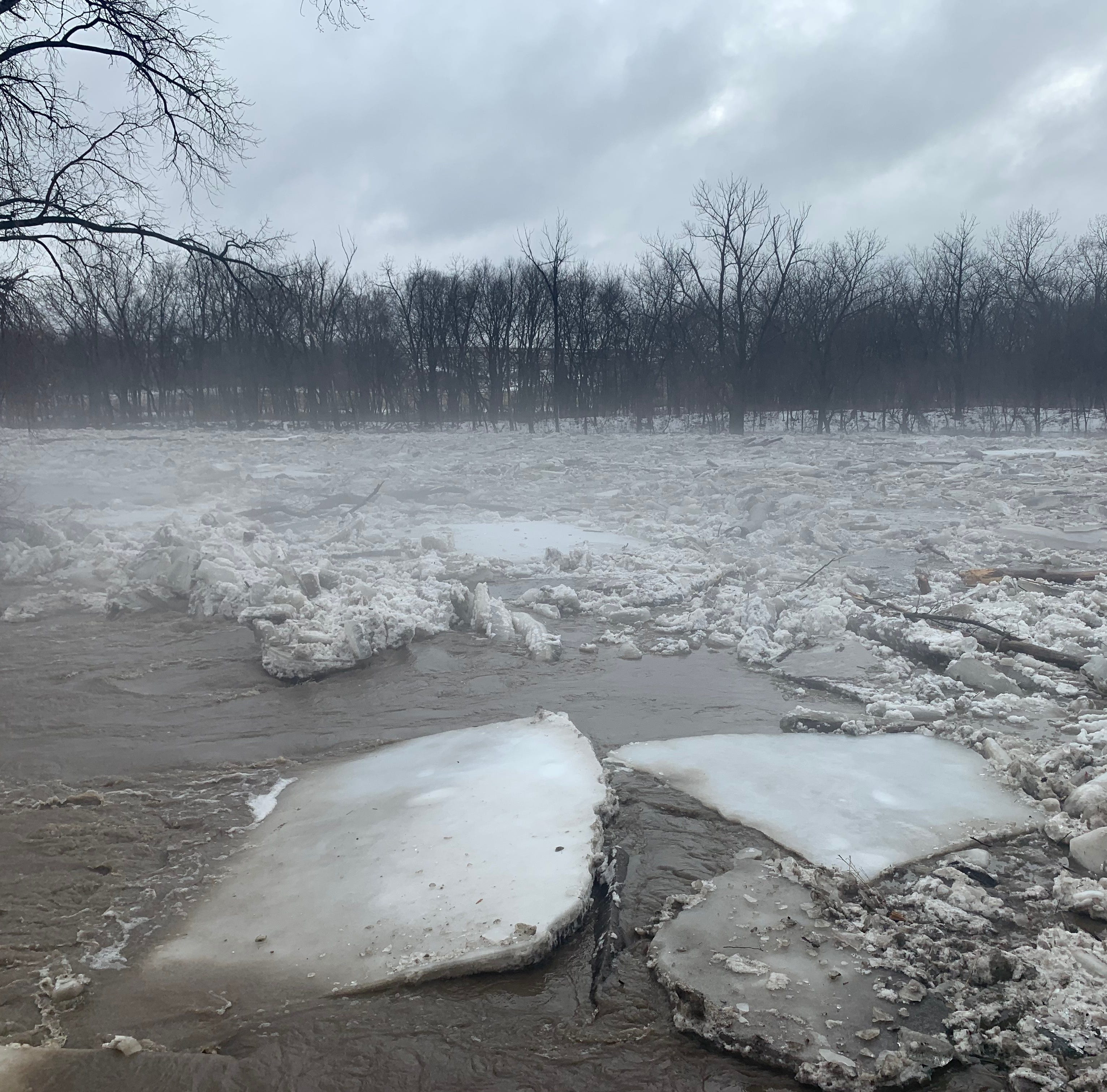 'It's pretty impressive': 30-foot ice slabs reported in Dallas County as Iowa flooding ramps up