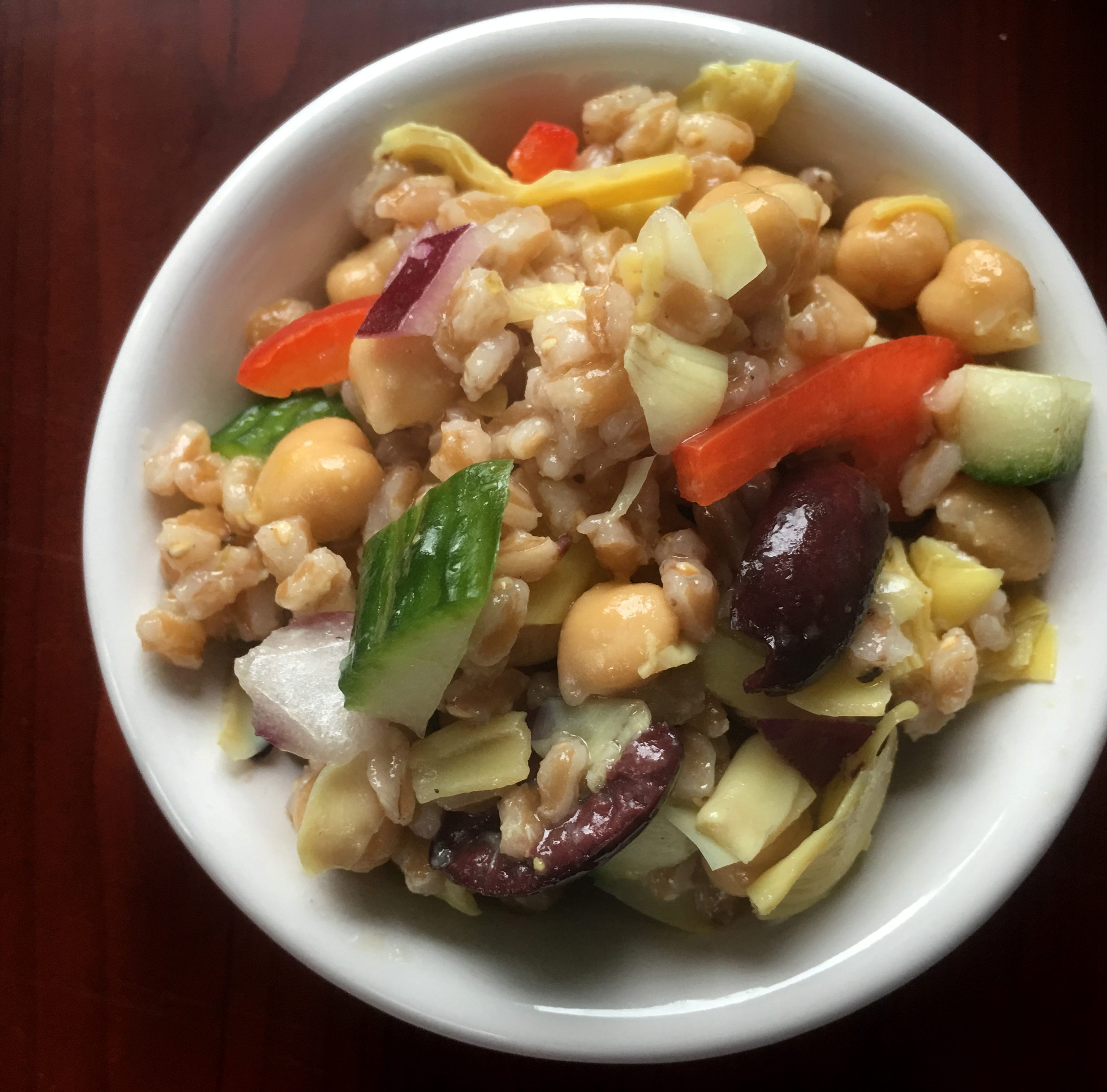Salad made with wheat berries, veggies is an excellent source of fiber