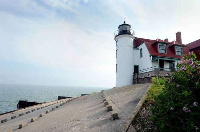 The Point Betsie Lighthouse located off M-22 just north of Frankfort.