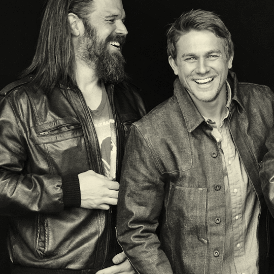 Ryan Hurst (left) and Charlie Hunnam.