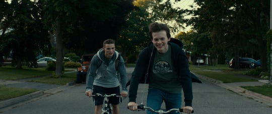 "Darren Mann and Josh Wiggins in ""Giant Little Ones."""