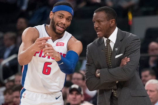 Pistons coach Dwane Casey enjoys the development aspect of his job such as working with young players like guard Bruce Brown.