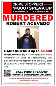 Crime Stoppers is offering a $2,500 reward for tips in his slaying.