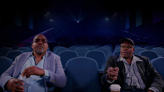 "Ken Foree and Keith David in ""Horror Noire: A History of Black Horror."""