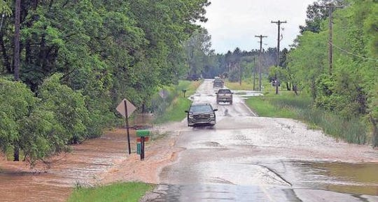 Tivers expected to reach near or above flood stage include the Chippewa River in Mount Pleasant. After more than seven inches of rain fell overnight, June 26, 2017, the Chippewa River flowed over Meridian Road in Mount Pleasant.