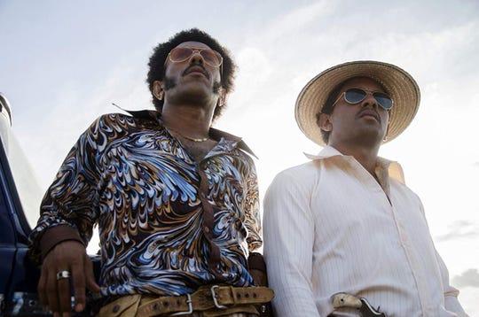 "Jhon Narváez and José Acosta in ""Birds of Passage."""
