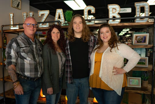 The LuZa CBD team, from left: Tj Schoenborn, Crystal Schoenborn, Jake Schoenborn and Lacy Nuefer. The business began three years ago and has multiple locations throughout the state.