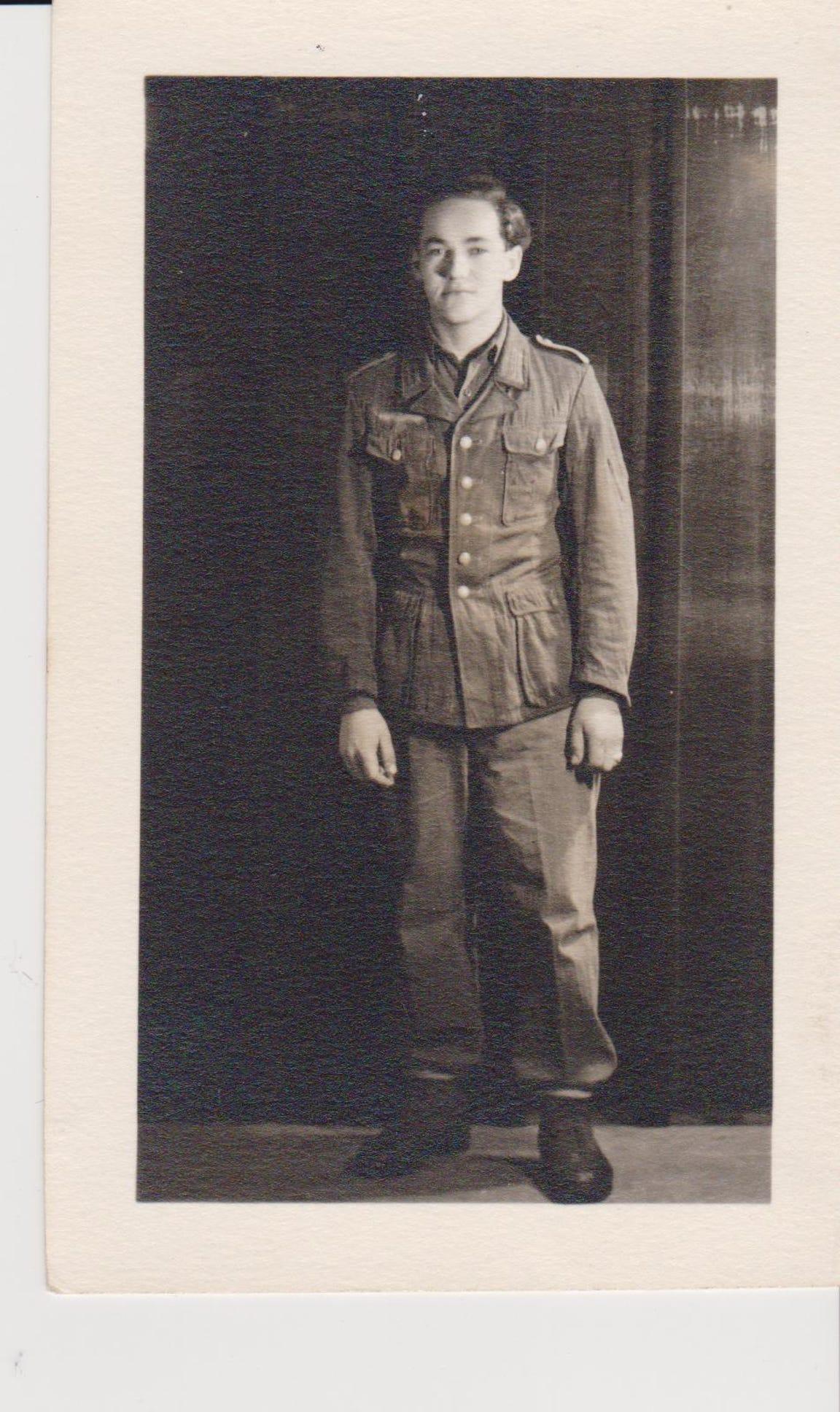 A photo of Kurt Pechmann when he was a German POW in Camp Hartford in 1945.