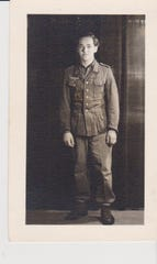 A photo of Kurt Pechmann when he was a German POW in Camp Hartford in 1945.
