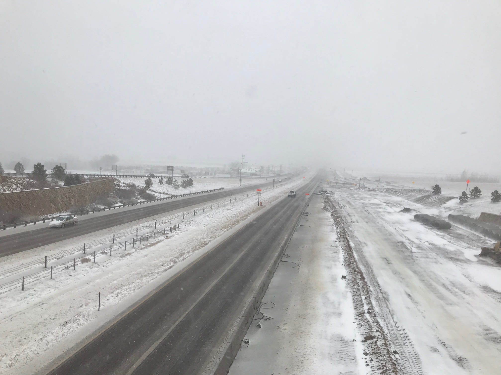 Here's what conditions look like on Interstate 25 at Colorado Highway 392 (the Windsor exit) on Wednesday just before noon.