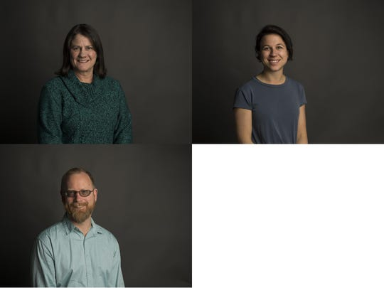 Fort Collins City Council District 6 candidates for 2019 are, clockwise from top left, Lori Brunswig, Emily Gorgol and Fred Kirsch.