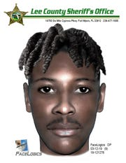 This composite drawing shows a suspect that Lee County Sheriff's Office detectives is looking for in a sexual assault in south Fort Myers.