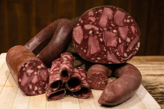 Blood tongue sausage and ring blood sausage are among the heritage products produced by Usinger's Sausage in Milwaukee.