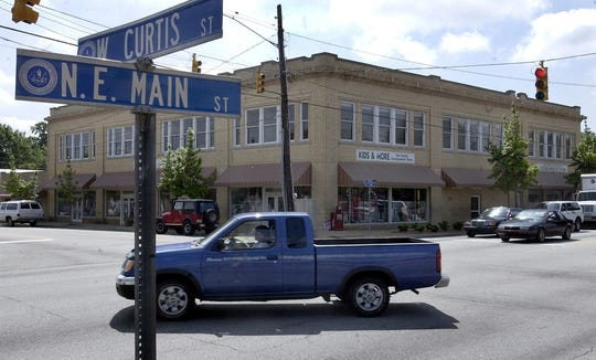 The historic Burdette Building on Main Street in Simpsonville is pictured in this 2006 Greenville News archive photo.