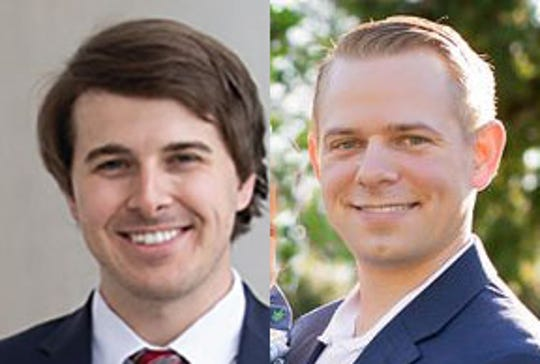 Kent McCarty, left, and Steven Utroska will face off again in a runoff election April 2 for the Mississippi House 101 seat.