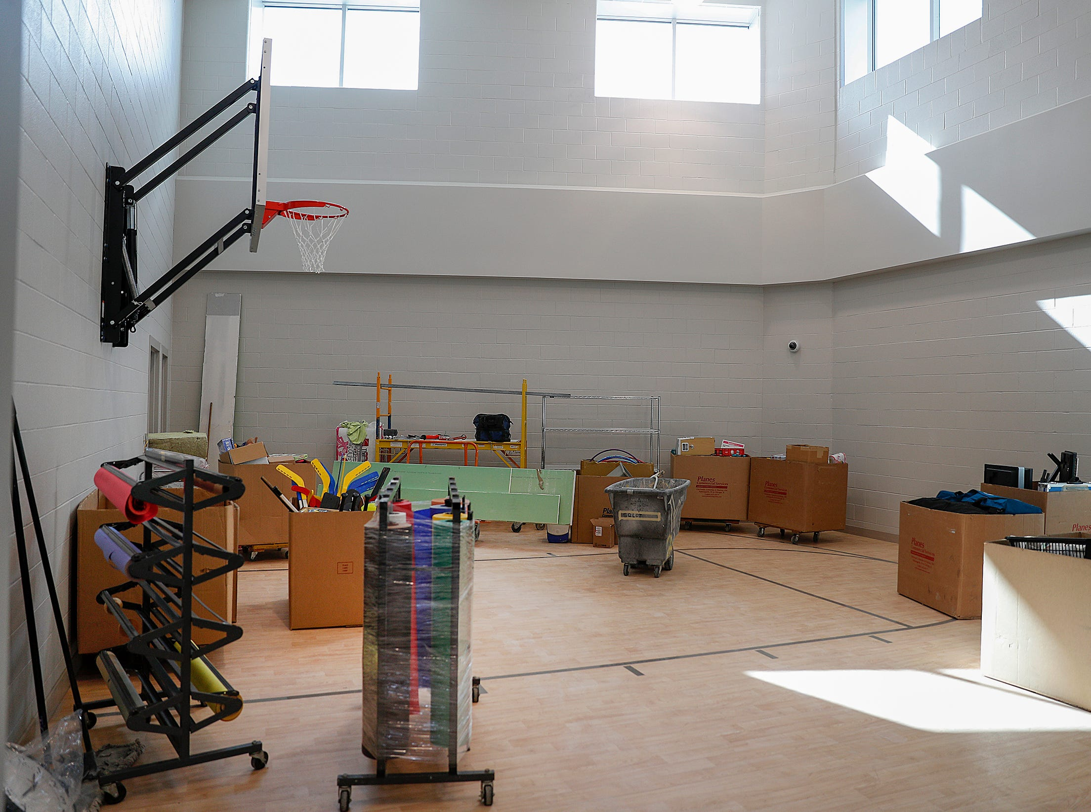The gym and basketball court in the Treatment Mall at the new NeuroDiagnostic Institute, at 5435 E 16th St., will replace LaRue Carter as the center for mental health care on Wednesday, March 13, 2019.