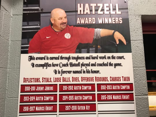 Frankton coach Brent Brobston renamed the hustle award after Chris Hatzell, who played at Frankton in the early 1990s.