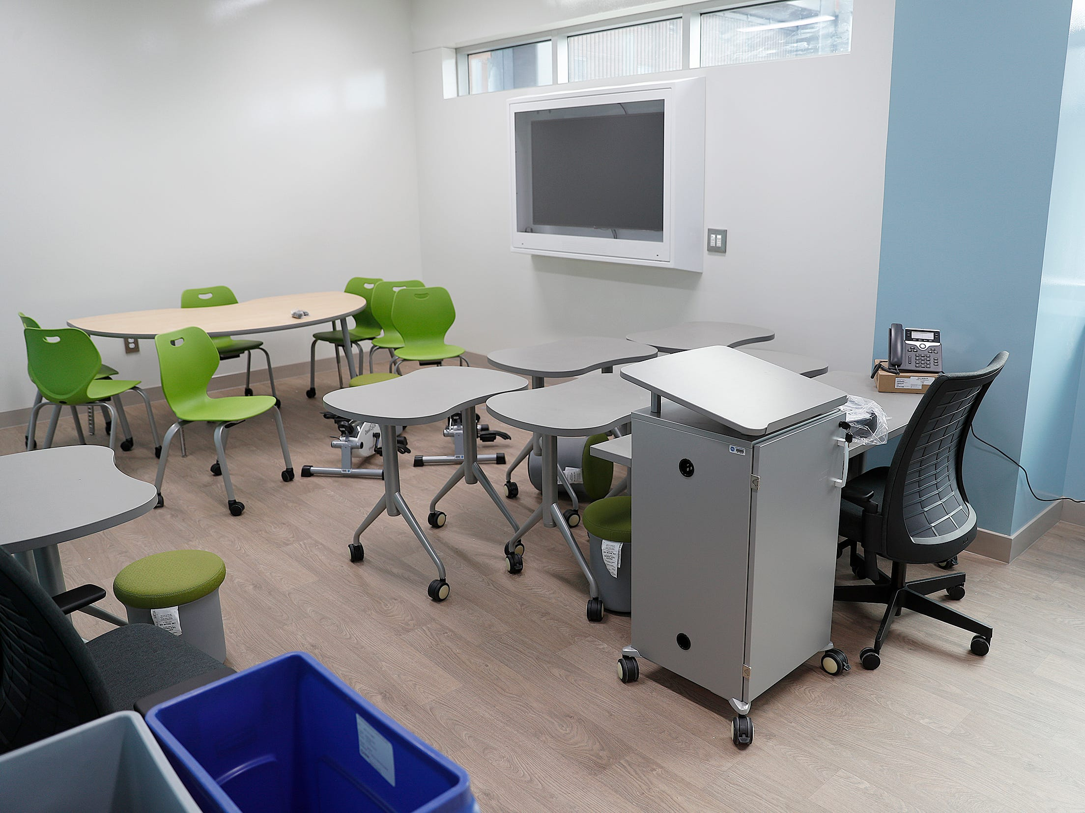 One of the many classrooms in the new NeuroDiagnostic Institute, at 5435 E 16th St., will replace LaRue Carter as the center for mental health care on Wednesday, March 13, 2019.