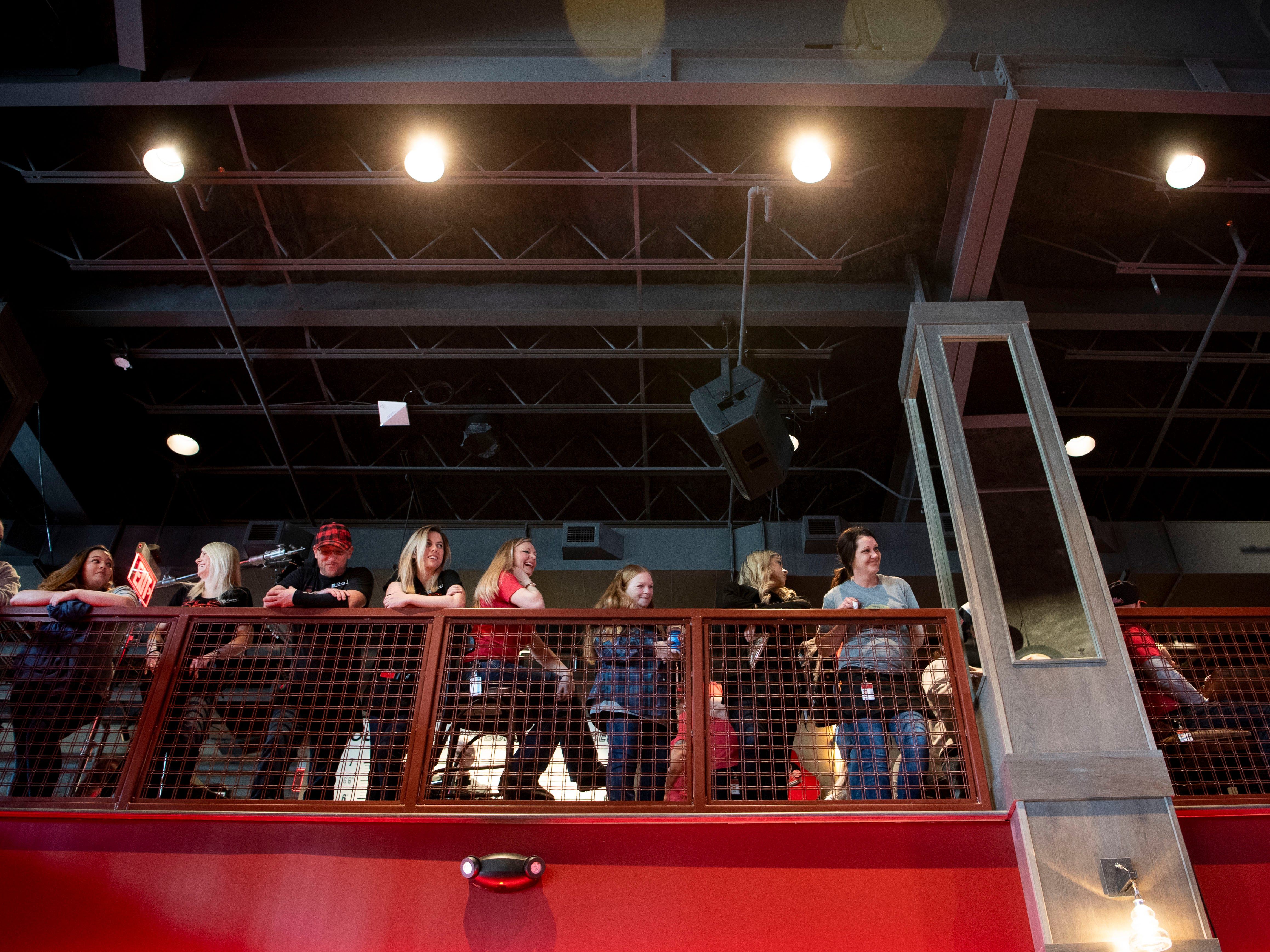 Guests attend the Blake Shelton news conference and ribbon-cutting ceremony for the grand opening of Ole Red Gatlinburg on Wednesday, March 13, 2019.