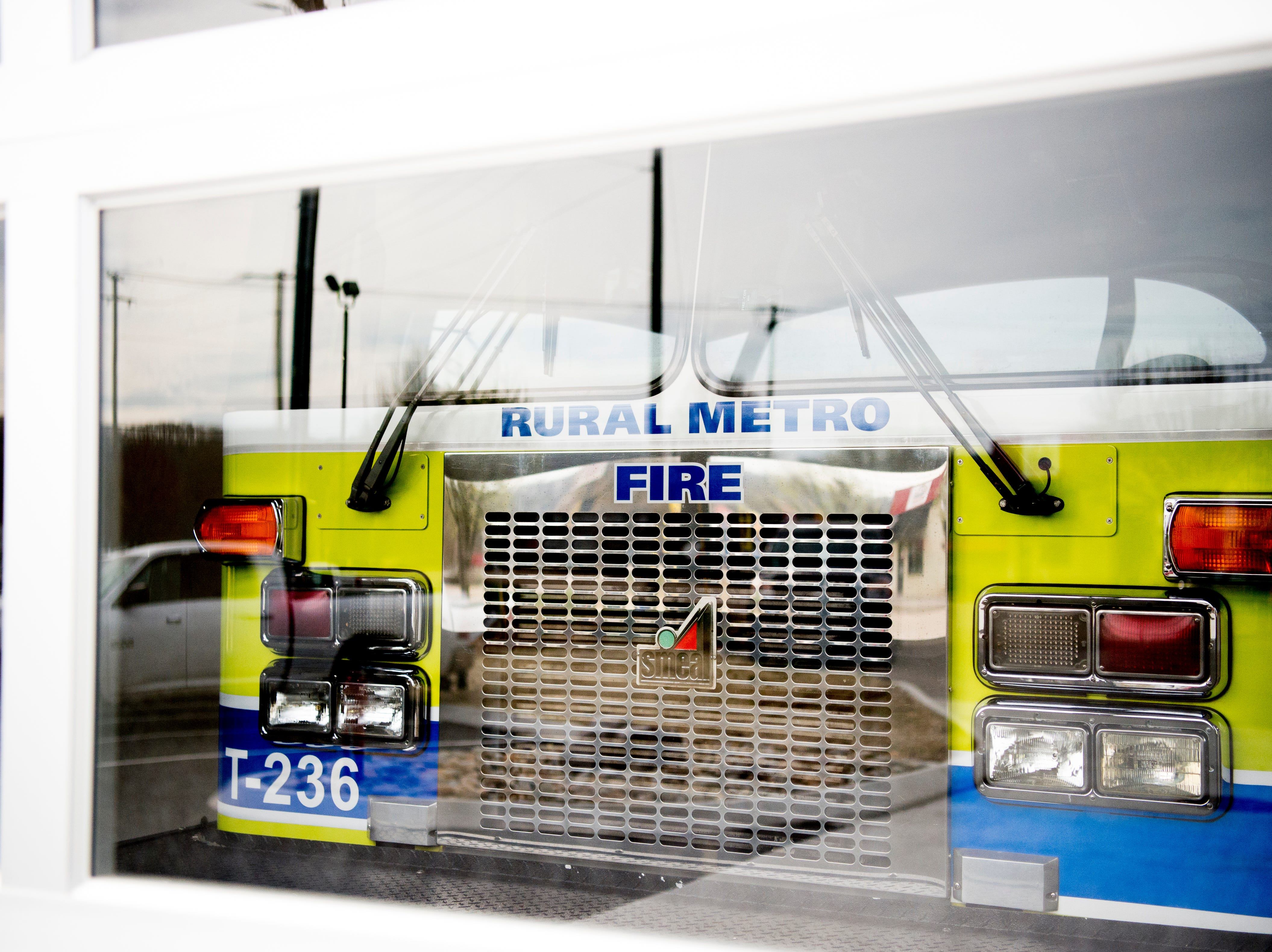 Rural Metro Truck 236 parked in the engine bay at the new Rural Metro Fire Station 36, 7615 Norman Jack Lane, in Powell, Tennessee on Wednesday, March 13, 2019. The station has been operational since early February and is hosting an open house and grand opening March 14 from 10am-7pm.