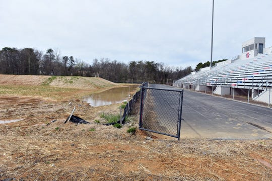 Images of the BMX park that was to be built at South-Doyle Middle School. Plans to build the track were recently canceled by mayor Glenn Jacobs. March 12, 2019