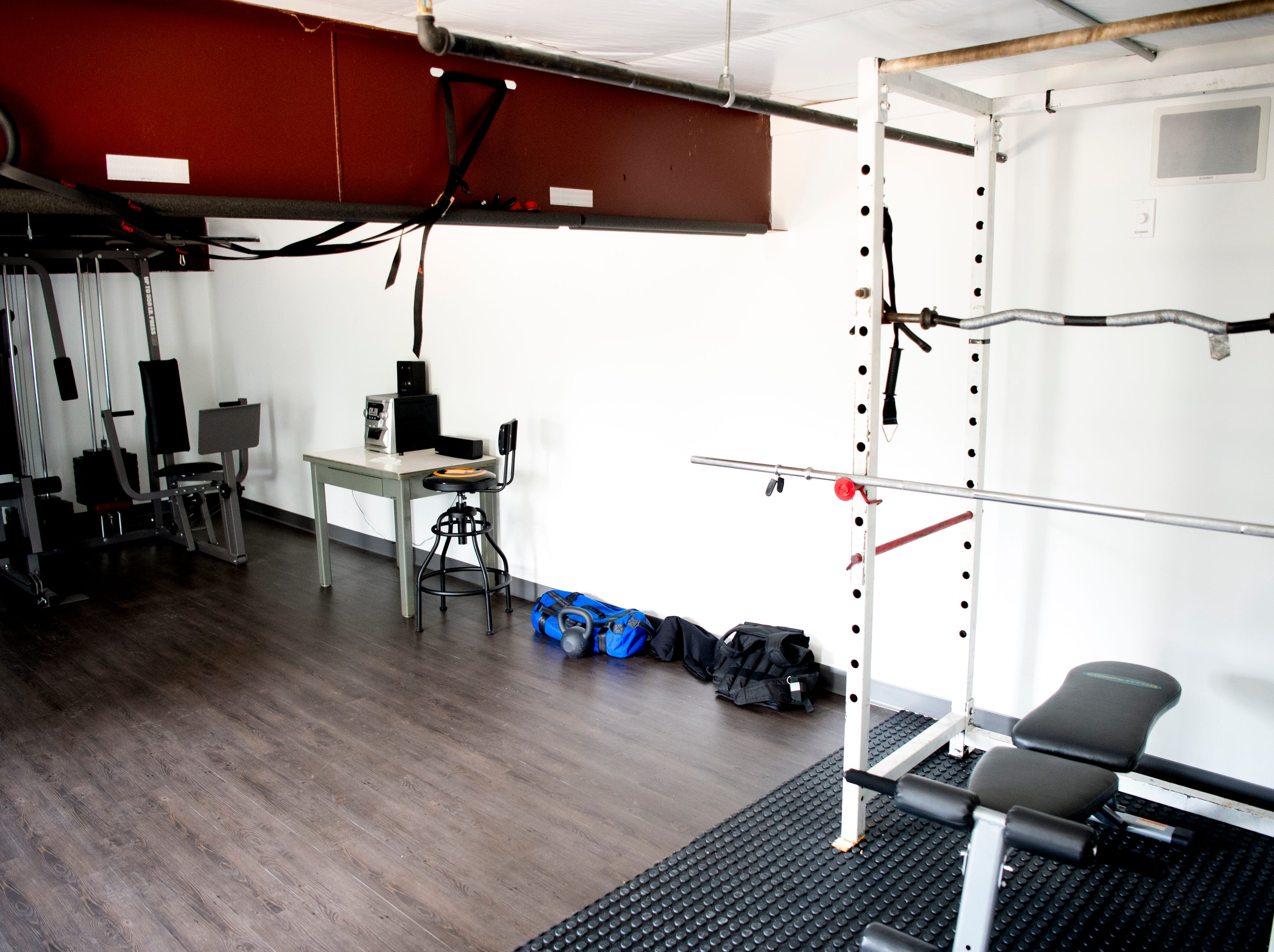 A gym area upstairs at the new Rural Metro Fire Station 36, 7615 Norman Jack Lane, in Powell, Tennessee on Wednesday, March 13, 2019. The station has been operational since early February and is hosting an open house and grand opening March 14 from 10am-7pm.