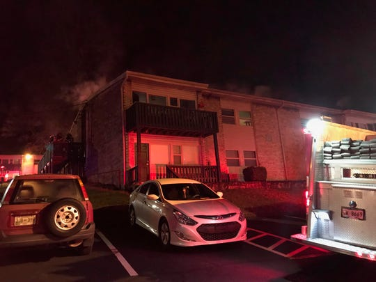 Eight residents were displaced by a fire in a South Knoxville apartment building early Tuesday, March 12, 2019. Their neighbor, Caleb Alex Jones, 21, is now charged with aggravated arson after he reportedly confessed to setting the fire.