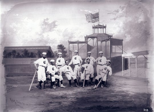 The 1868 Cincinnati Red Stockings had a 41-7 record a year before the team was considered the first openly professional baseball team.