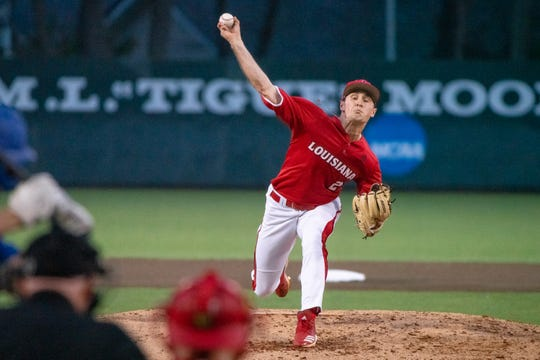 UL reliever Connor Cooke settled in and finished with three strong innings in Tuesday's 10-3 loss to UNO.