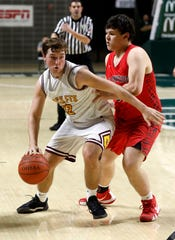 Berne Union's Zane Mirgon will one of 40 area high school players participating in the Refreshing 90.0 FM All-Star High School basketball game, featuring a boys and girls game on March 31 at Berne Union High School.
