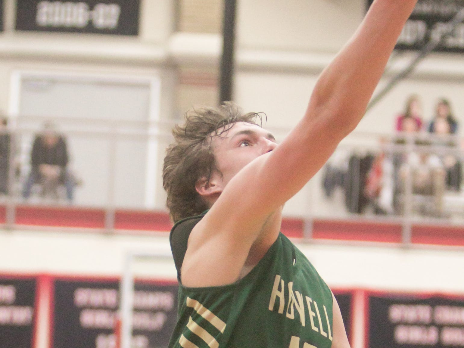 Tony Honkala had a team-high 18 points for Howell in a 57-56 victory over Saginaw in a state basketball quarterfinal at Grand Blanc on Tuesday, March 12, 2019.