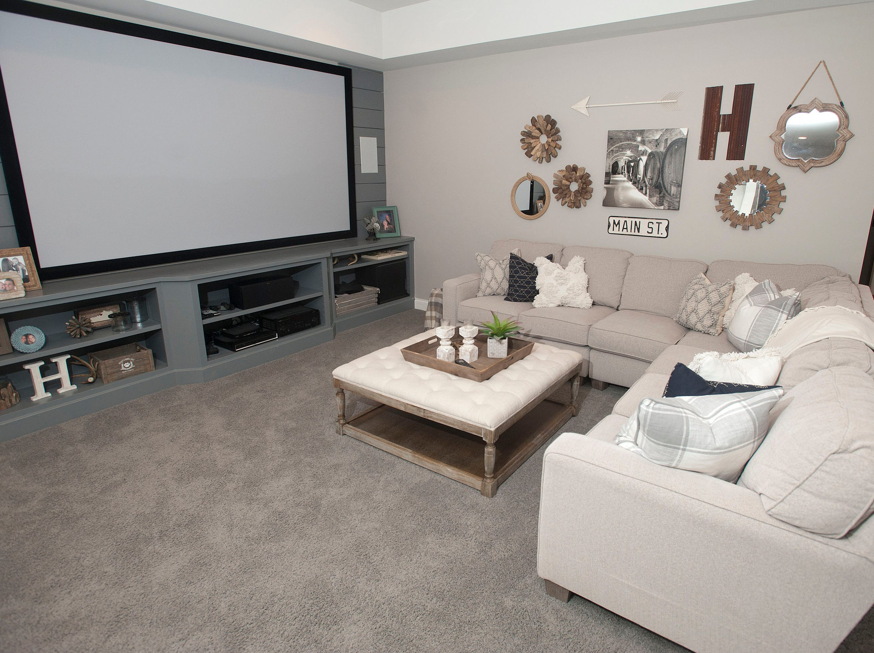 The family room of the Hannah home in Norton Commons.01 March 2019