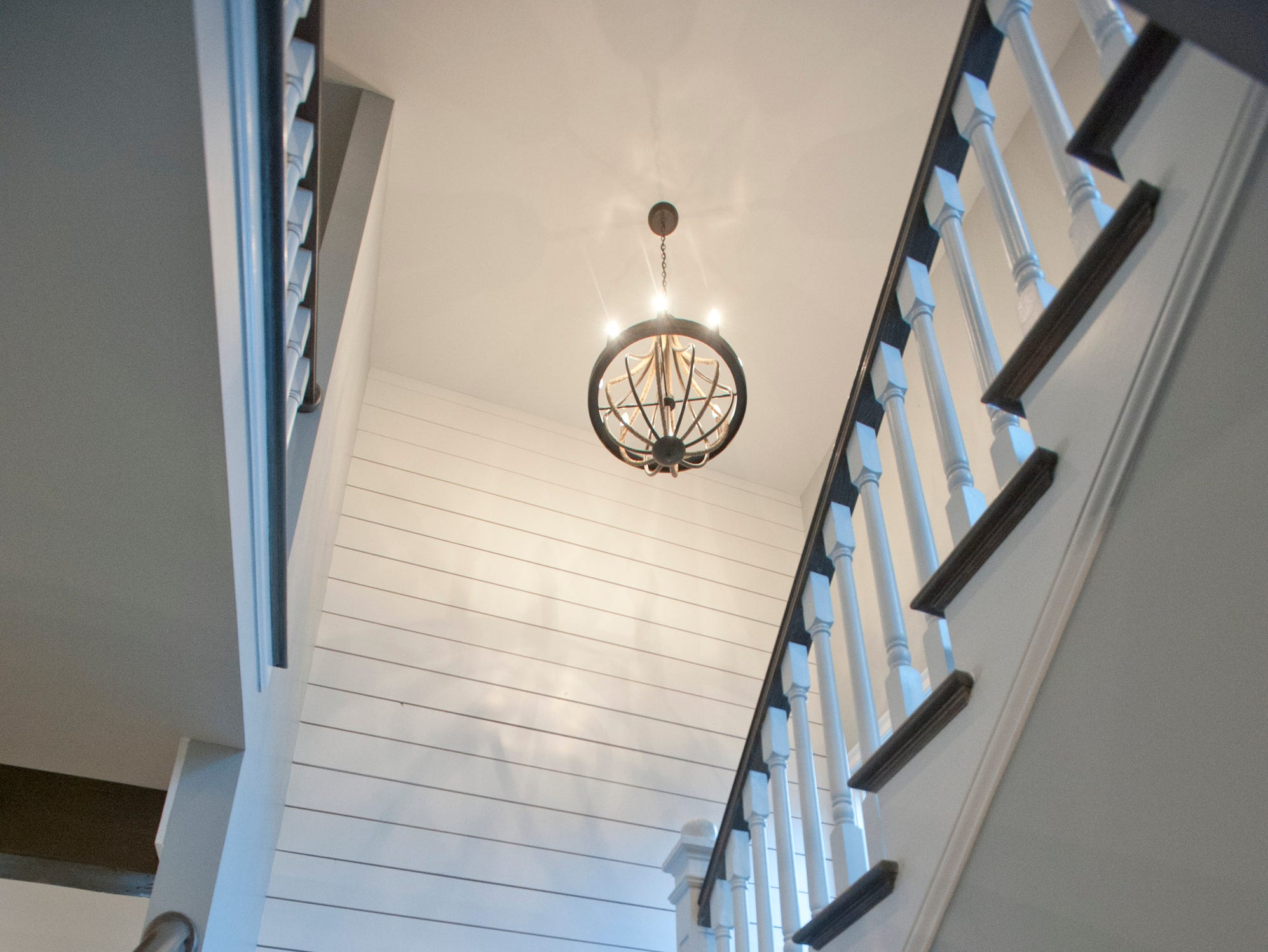 The angular stairwell to the second floor.01 March 2019