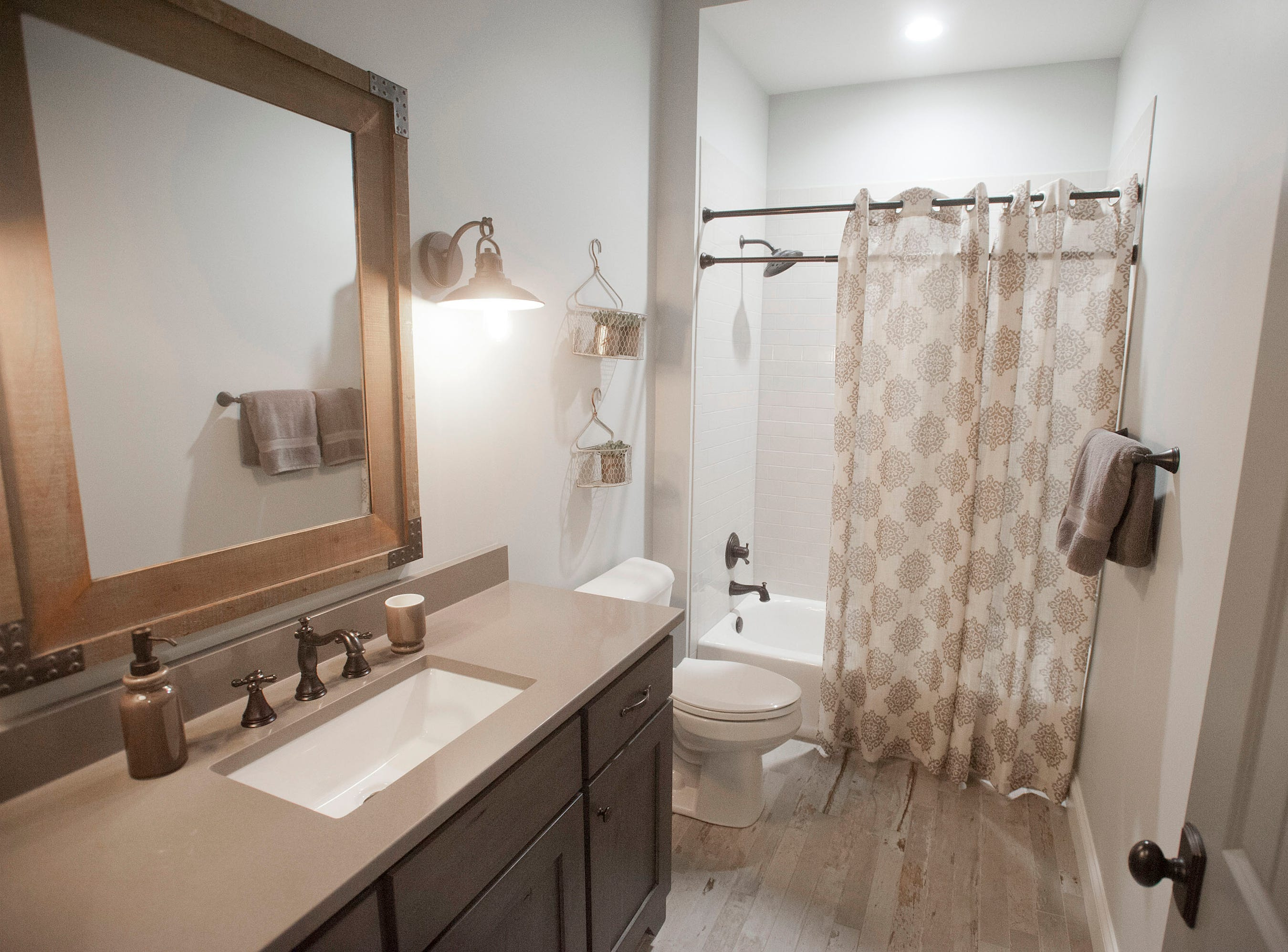 The family room bathroom of the Hannah home in Norton Commons.01 March 2019
