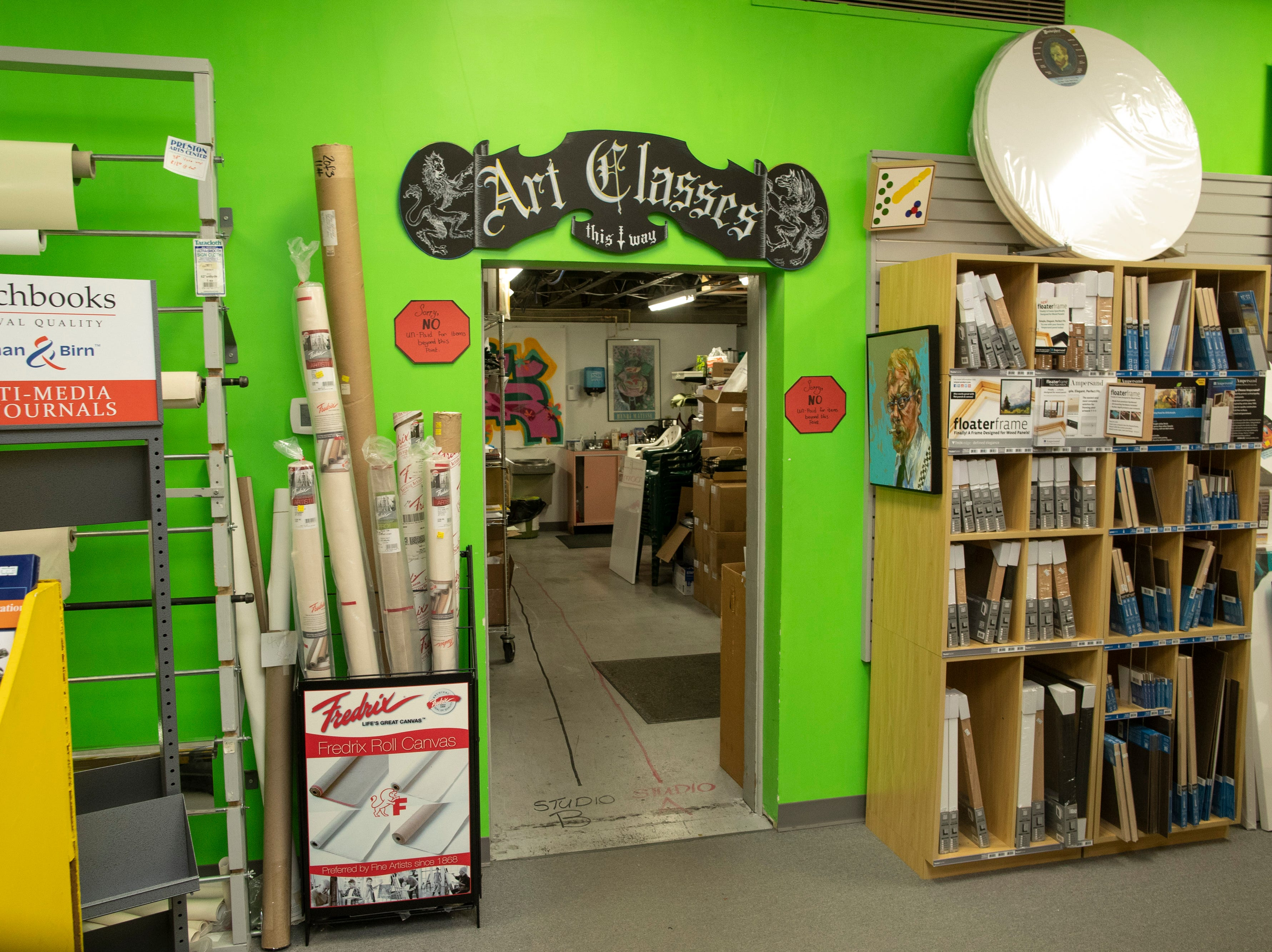 The art class area inside the Preston Arts Center store on Bardstown Road. In June a new store is planned to open in Jeffersonville, Indiana. March 12, 2019